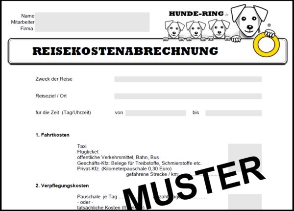 bewirtungsbeleg muster pdf free - Muster Reisekostenabrechnung